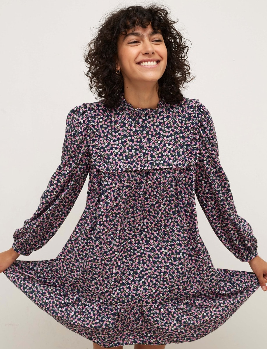 Multi Ditsy Heather Smock Mini Dress