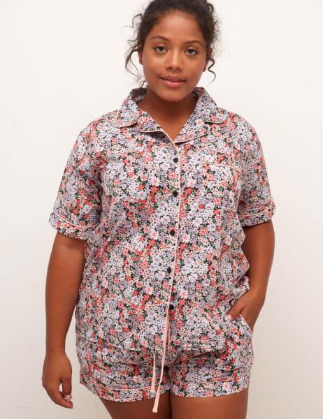 Curve Daphenie Short Sleeve Pyjama Trouser Set