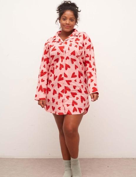 Curve Martha Long Sleeve Shirt Dress