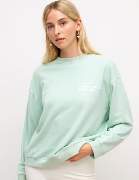 Boxy Fit Embroidered Sweater