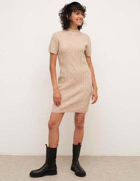 Chunky Cable Mini Dress