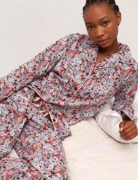 Daphenie Long Sleeve Pyjama Trouser Set