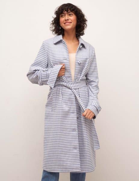 Tora Check Pea Coat