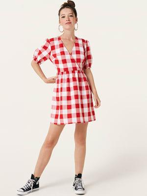Red and White Check Jolene Mini Dress