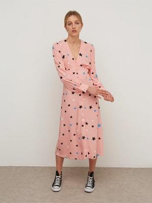 Lenzing EcoVero Pink Star Siri Midi Dress