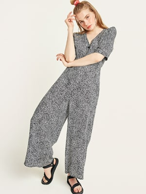 Black and White Animal Sharona Jumpsuit