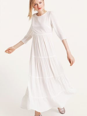 White Joni Tiered Maxi Dress