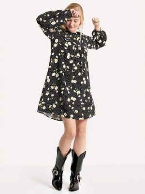 Black Harley Daisy Ruffle Dress