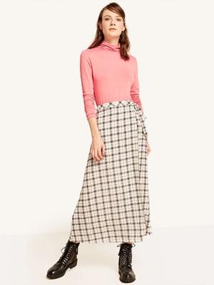 Paige Check Midaxi Skirt
