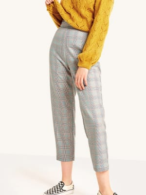 Millie Grey Check Peg Leg Trouser