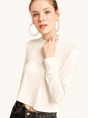 Off White Funnel Neck Top
