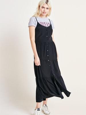 Black Tiered Cami Dress