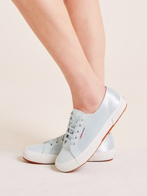 Mint Satin Superga Trainer