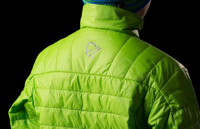 Kids norrona insulation jacket - Falketind in green