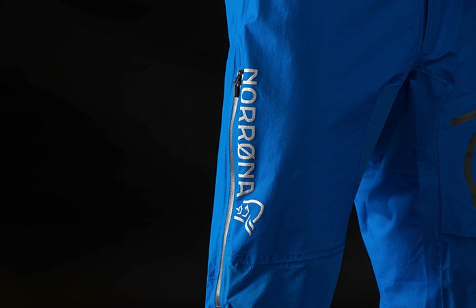 norrona fjora mountainbike pants waterproof black detail
