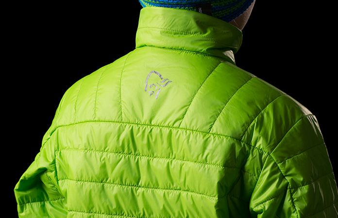Kids norrona insulation jacket - Falketind in green