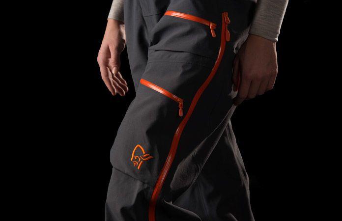 Womens waterproof ski pants - Norrona Lofoten orange