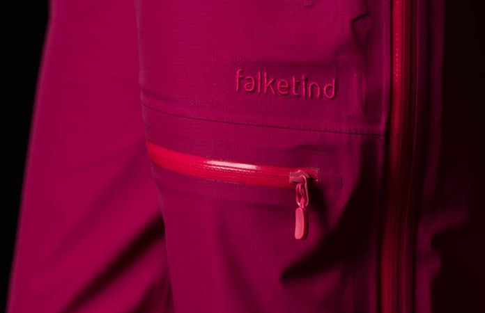 Climbing waterproof pants for women in pink Gore-Tex - Norrona falketind