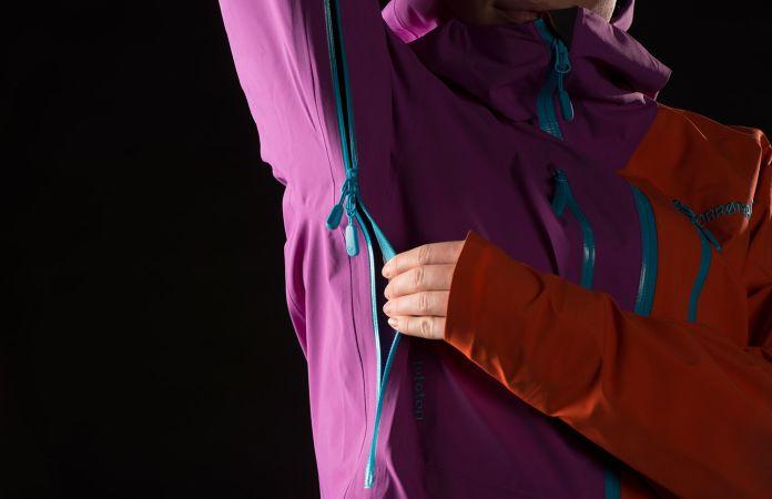 Norrøna lofoten Gore-Tex skijakke dame - ventilasjon