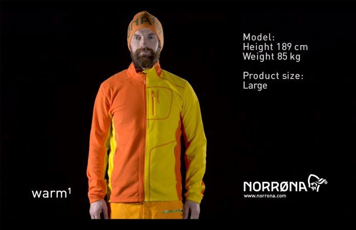 Norrona lofoten warm1 fleece jacket men