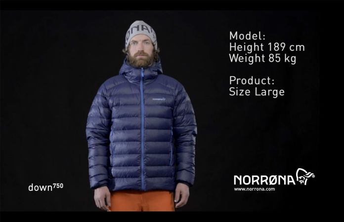 Norrona lyngen lightweight down750 ski touring jacket for men