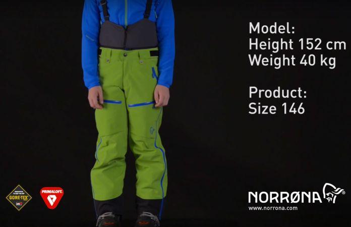 Norrona lofoten ski pants kids