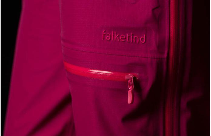 Climbing waterproof pants for women in pink Gore-Tex - Norrona falketind