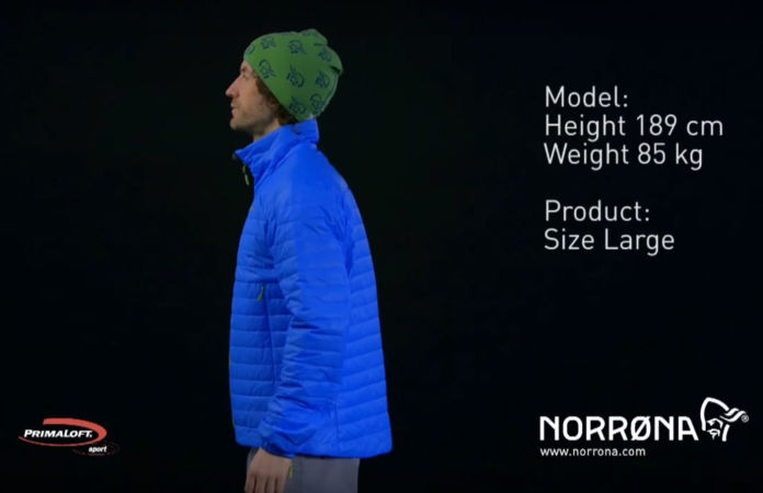 Norrona insulated Primaloft jacket in falketind men