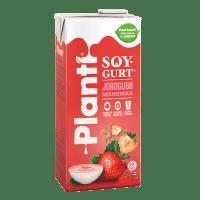 Planti Soygurt Jordgubb i förpackning