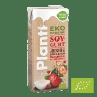 Planti Eko Soygurt Jordgubb och Smultron