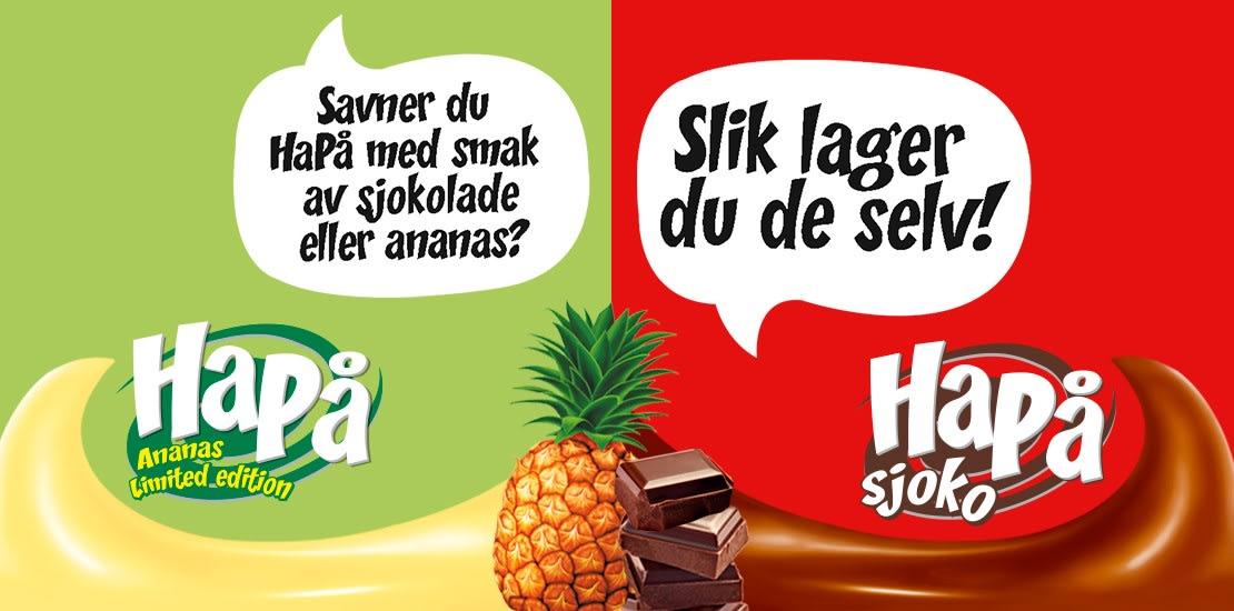 Savner du HaPå med smak av ananas eller sjokolade? Slik lager du de selv!