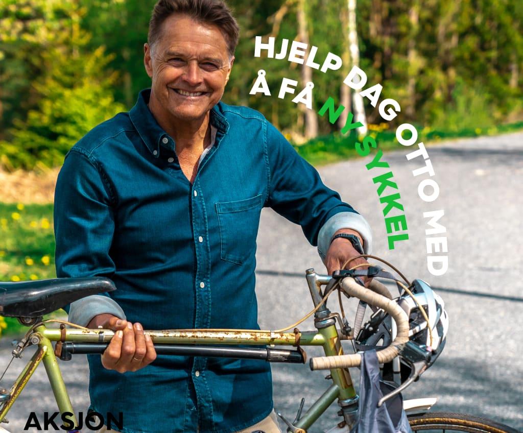 Hjelp Dag Otto med å få ny sykkel. Aksjon Gjenvinning!