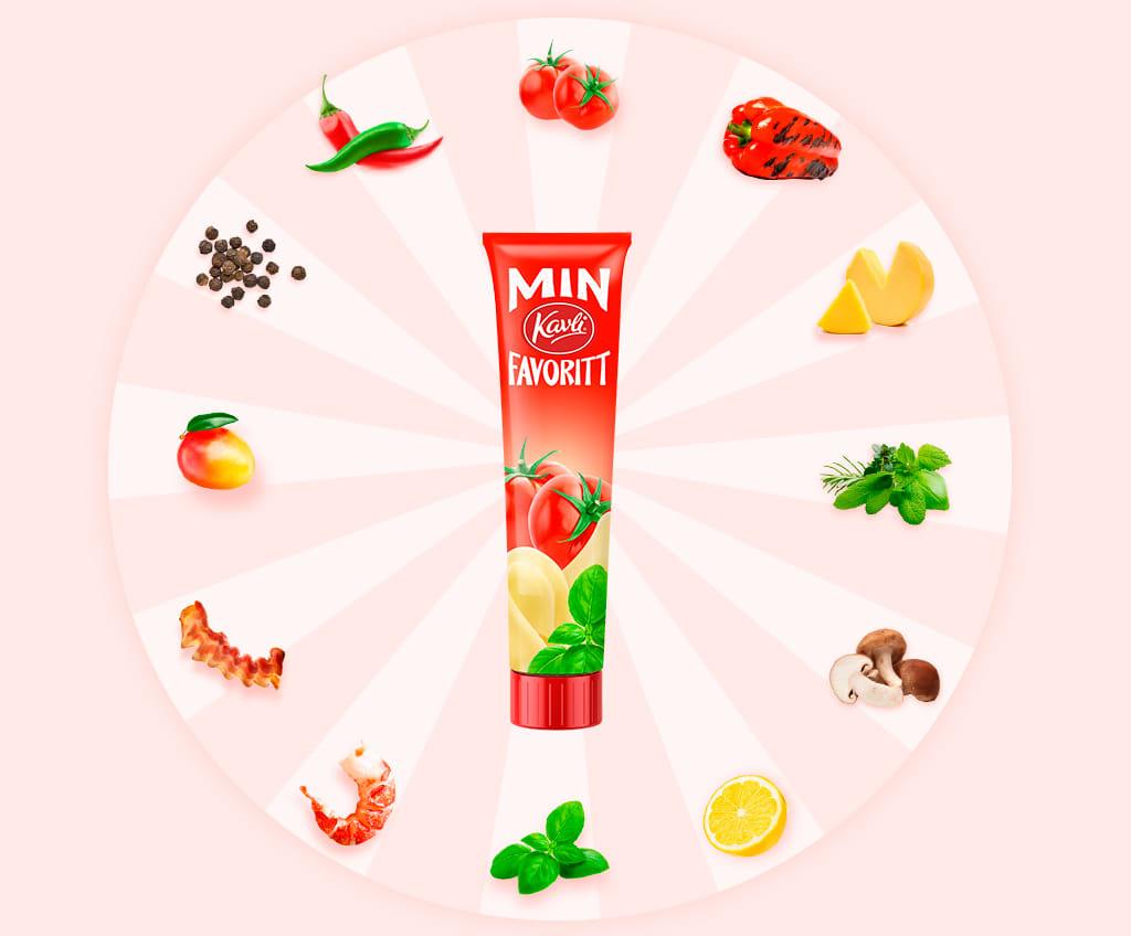 Lag din Kavlifavoritt. Velg mellom spennende ingredienser for å komponere din egen smøreost.