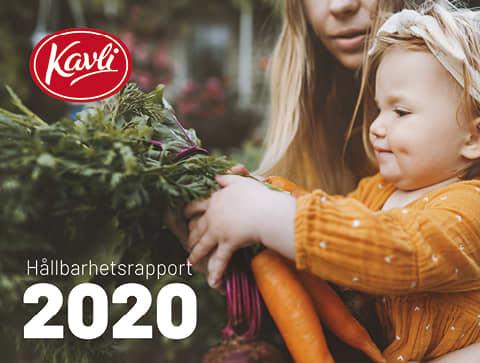 Kavli Hållbarhetsrapport 2020 - på bilden håller en flicka morötter i sina händer