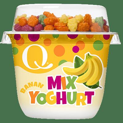 Q barneyoghurt med banansmak er ekte matglede