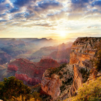 see spectacular GRAND CANYON sunsets - stay with  SEDONA VIEWS B&B