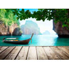 Painel Fotográfico Paisagem Barco Tailandia Origini