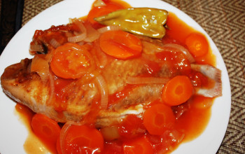 Suz-und-Sauer Fische (German Sweet-and-Sour Fish)
