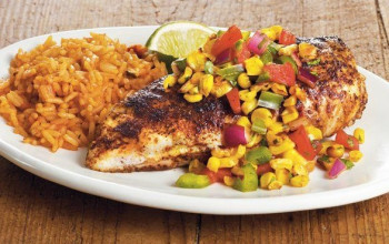 Roasted Corn Salsa and Chicken