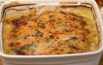 Sweet Potato and Red Pepper Gratin