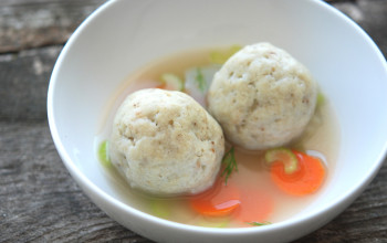 South African-Lithuanian Stuffed Matzah Balls