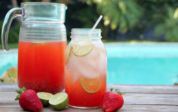 Strawberry Limeade for Diabetics