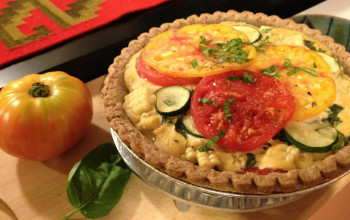 Corn, Zucchini, and Tomato Pie