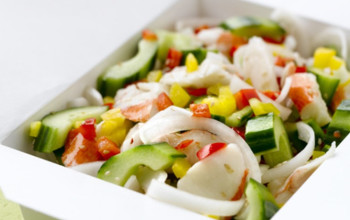 Mock Crab and Pepper Salad