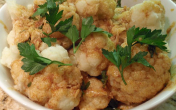 Cauliflower with Paprika Garlic Sauce