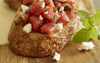 Mad's Watermelon Feta Bruschetta