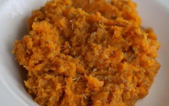 Hazelnut Mashed Sweet Potatoes