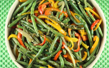 Green Beans and Peppers