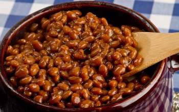 Baked Beans with Breakfast Beef and Brown Sugar