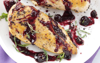 Chicken Breasts with Blueberries